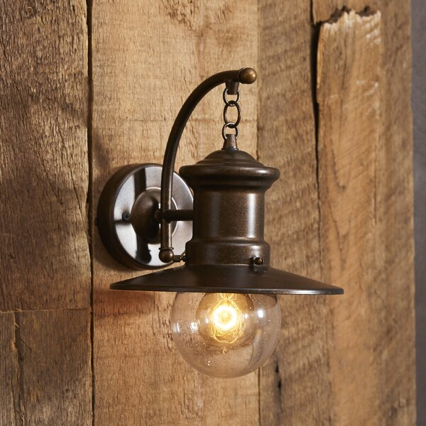 Beachcrest Home Acklins 1-Light Outdoor Barn Light & Reviews | Wayfair
