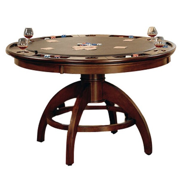 poker table with chairs set