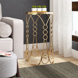 Amezcua Metal End Table by Ivy Bronx