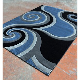 Best Reviews Light Blue/Black Area Rug By Rug Tycoon