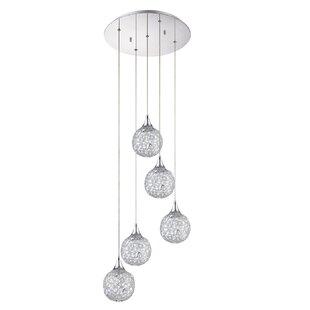 Hoban 5-Light Cluster Pendant by Orren Ellis