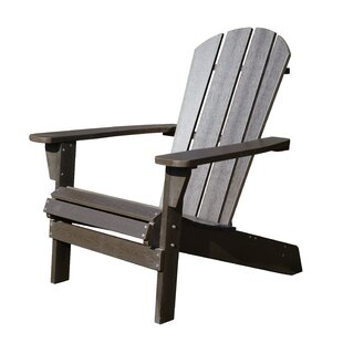 Price comparison Cassity Relaxed Plastic Adirondack Chair By Highland Dunes