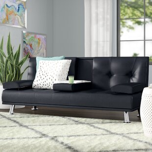 Shop Guiterrez Center Console Sleeper Sofa by Wrought Studio