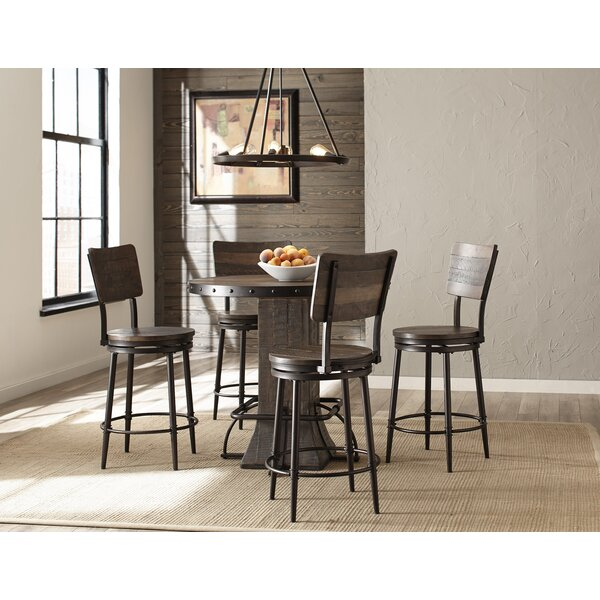 Gracie Oaks Cathie 5 Piece Round Counter Height Dining Set Reviews Wayfair