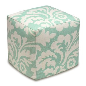 Jacobean Floral Upholstered Cube Ottoman by 123 Creations