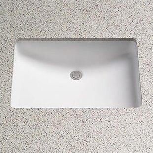 Toto Augusta Decorative Ceramic Rectangular Undermount Bathroom Sink with Overflow