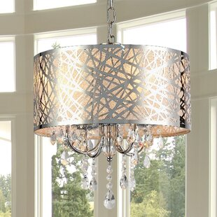 Looking for Abstract 4-Light Drum Chandelier By Warehouse of Tiffany
