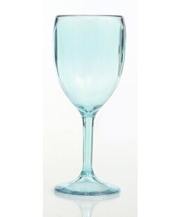 Emerick 8 oz. Plastic Stemmed Wine Glass (Set of 4)
