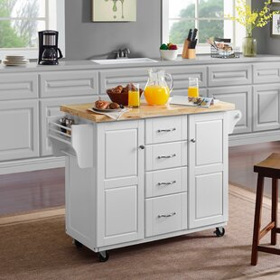 Mireya Kitchen Cart by Charlton Home Top Reviews