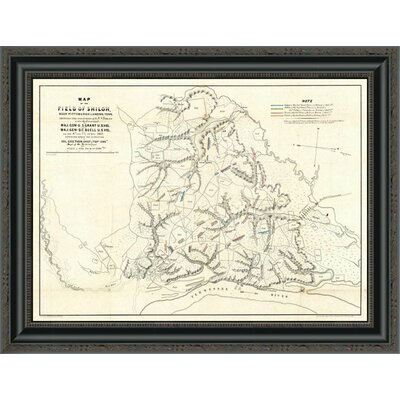 """Civil War Map of the Field of Shiloh; Near Pittsburgh Landing; Tennessee; 1862' Framed Print East Urban Home Size: 15.906"""""""" H x 22"""""""" W x 1.5"""""""" D -  EUAH2946 39637248"""