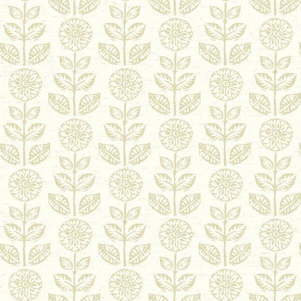 Dolly+Dark+Brown+Folk+Floral+Wallpaper