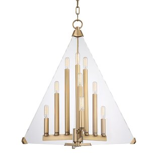 Diondre 9-Light Geometric Chandelier by Willa Arlo Interiors