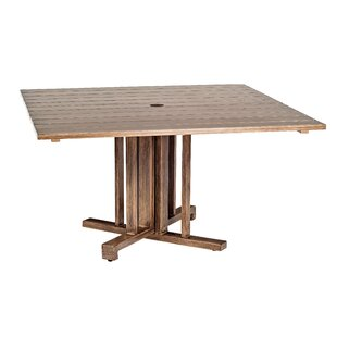 Woodlands Square Aluminum Umbrella Table