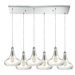 Brayden Studio Toothman 6-Light Kitchen Island Pendant