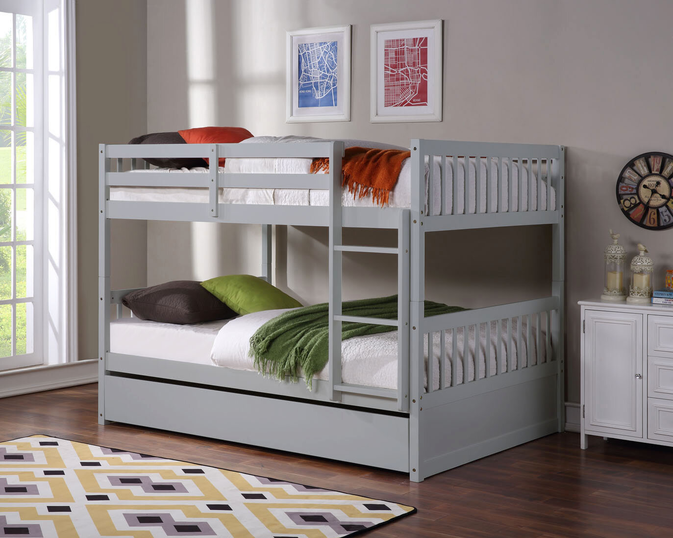 Isabelle Max Escalon Full Over Full Bunk Bed With Trundle Wayfair