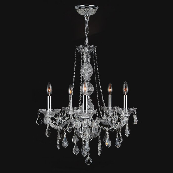Astoria Grand Doggett 5-Light Chain Crystal Chandelier & Reviews ...