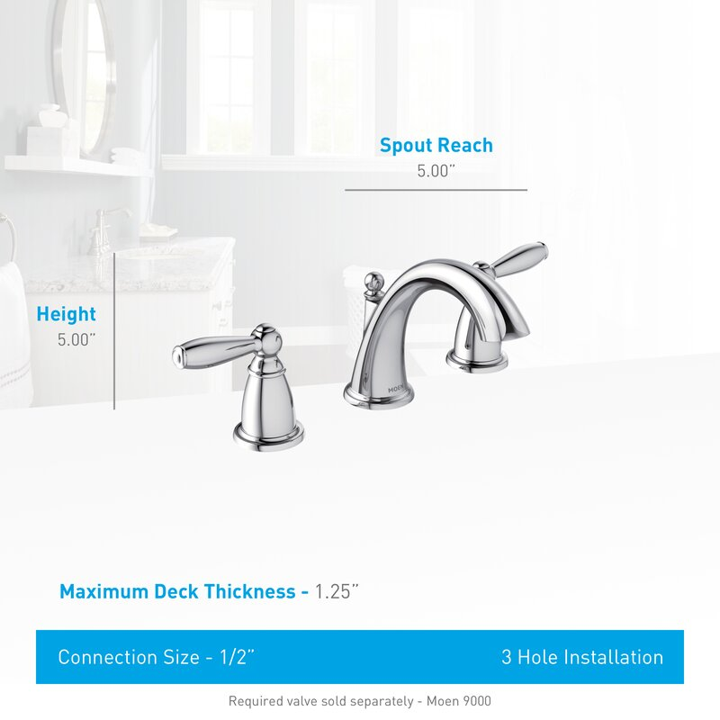 Bathroom Faucet Sizes moen brantford double handle widespread standard bathroom faucet