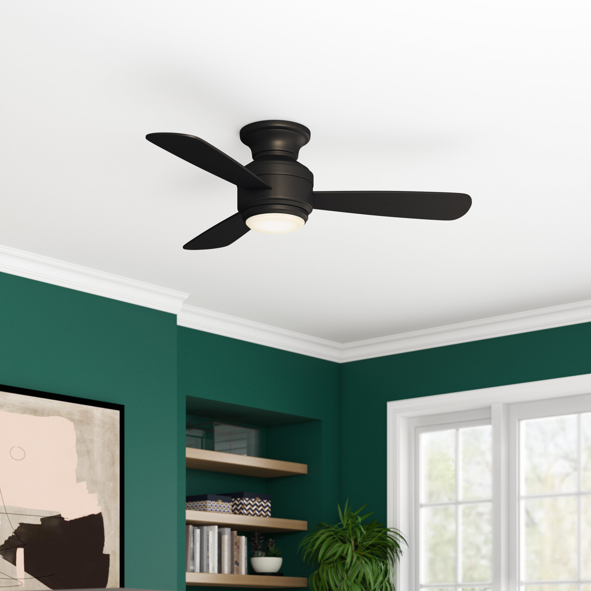 Image of: Brayden Studio 44 Lasky 3 Blade Standard Ceiling Fan With Wall Control And Light Kit Included Reviews Wayfair