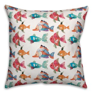 Steigerwald School of Fish Outdoor Throw Pillow