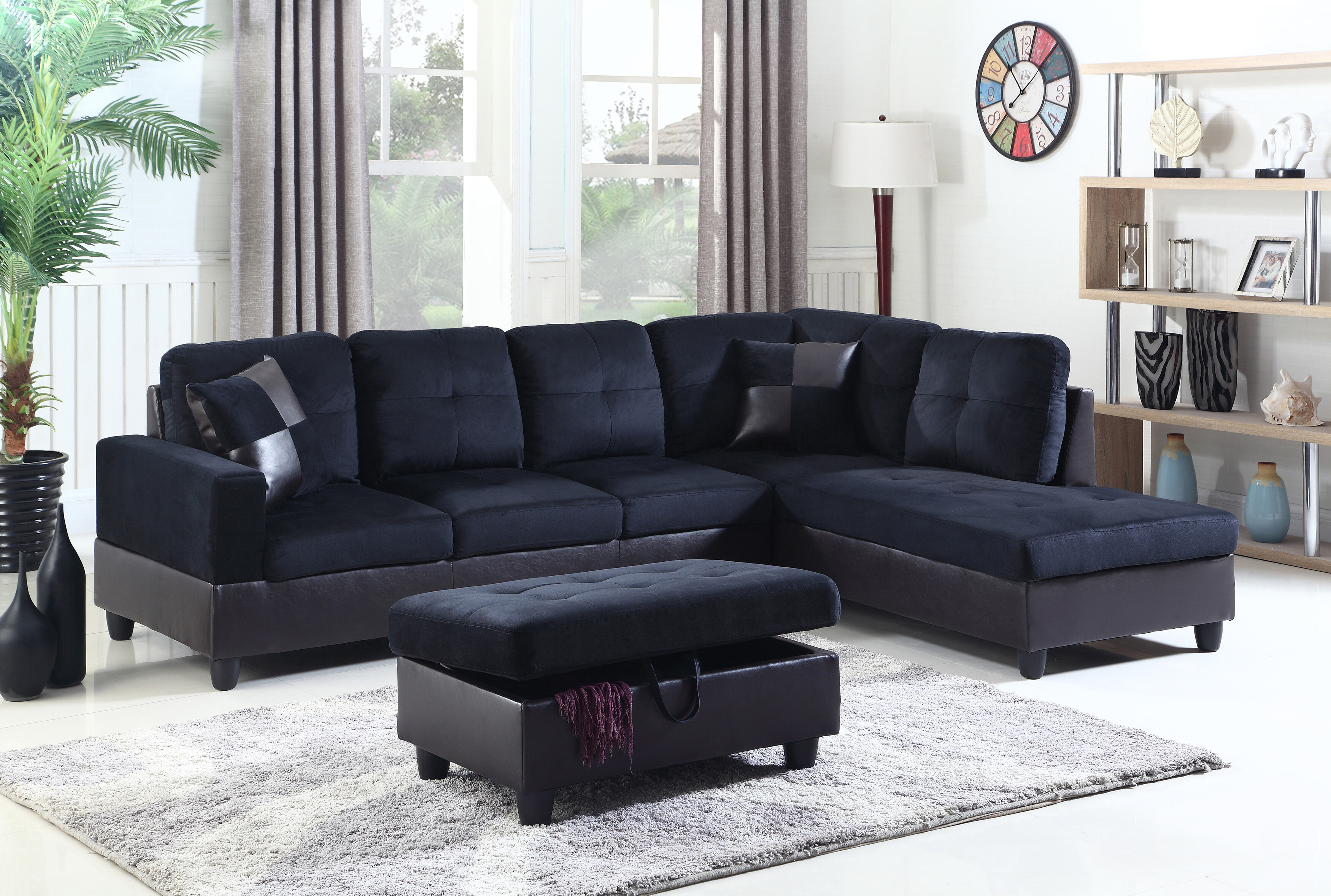 Phenomenal Aiden Sectional With Ottoman Gmtry Best Dining Table And Chair Ideas Images Gmtryco