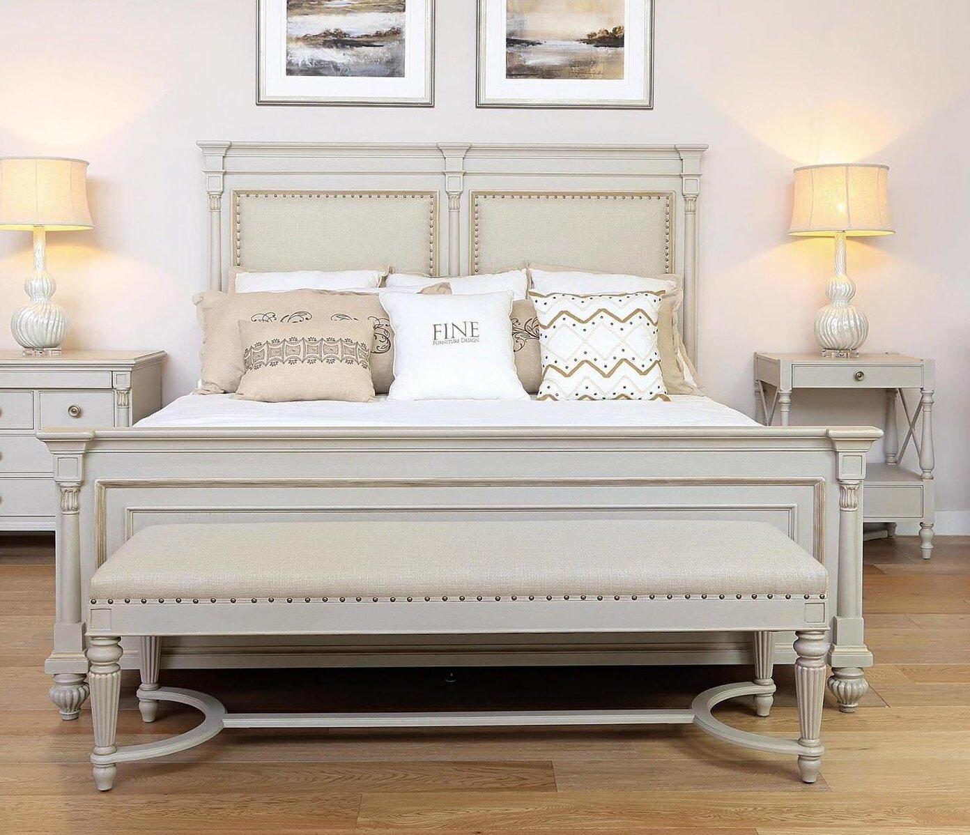 - Fine Furniture Design Camden Queen Upholstered Sleigh Bed Wayfair