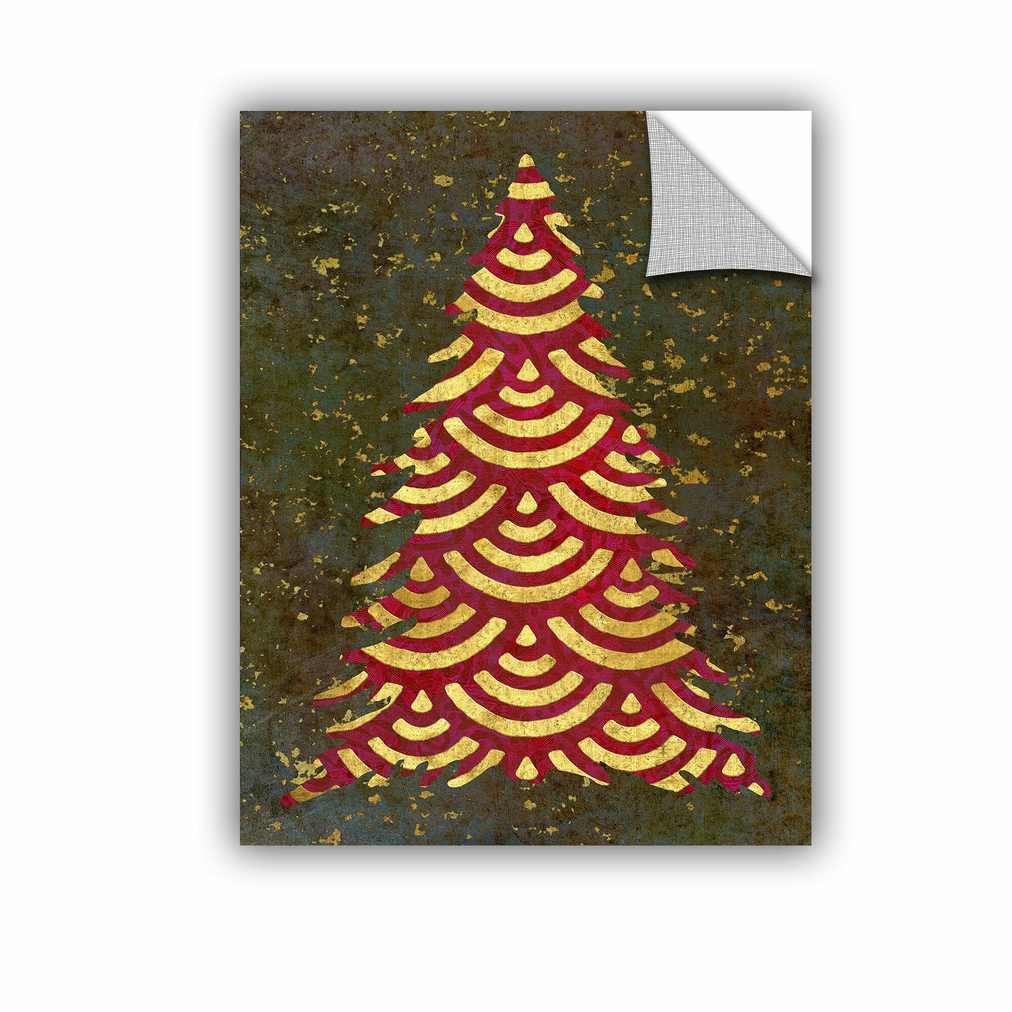 The Holiday Aisle Xmas Tree Garland Wall Decal Wayfair
