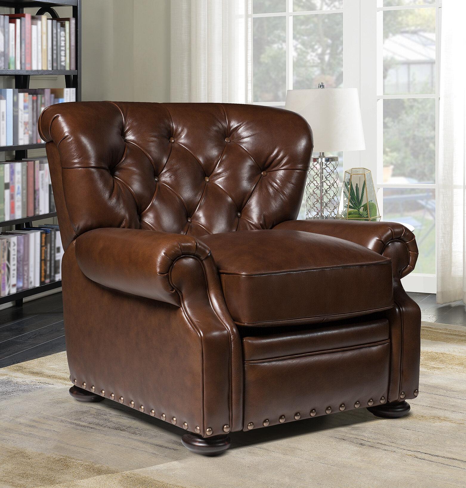 Magnificent Ty Leather Manual Recliner Spiritservingveterans Wood Chair Design Ideas Spiritservingveteransorg