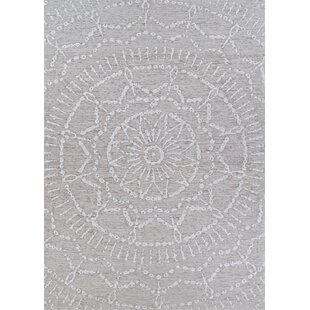 Elodia Wheat Light Gray Indoor/Outdoor Area Rug