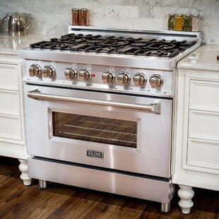 36 4.6 cu ft. Free-standing Dual Fuel Range by ZLINE Kitchen and Bath