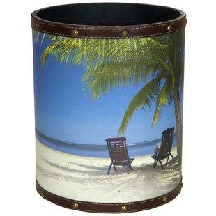 Oriental Furniture Caribbean Beach 2.9 Gallon Waste Basket