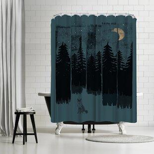 East Urban Home NDTank Fox in the Wild Night Shower Curtain