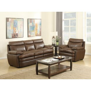 Millwood Leather Sofa by Darby Home Co New Design
