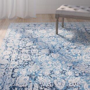 Affordable Lavardens Blue/White Area Rug ByOne Allium Way