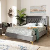 Maude Velvet Upholstered Platform Bed by Mercer41