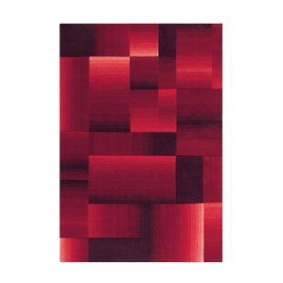 Dynamic Hand Tufted Red Rug by Arte Espina