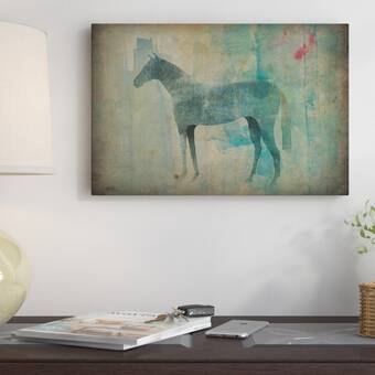 East Urban Home Cheval Noir Iii Graphic Art On Wrapped Canvas Wayfair