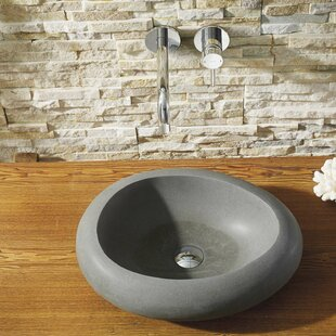 Virtu USA Athena Stone Circular Vessel Bathroom Sink