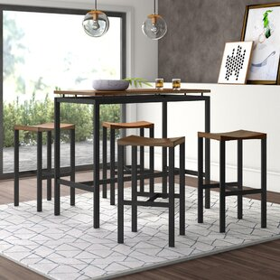 Mcgonigal 5 Piece Pub Table Set by Mercury Row Comparison