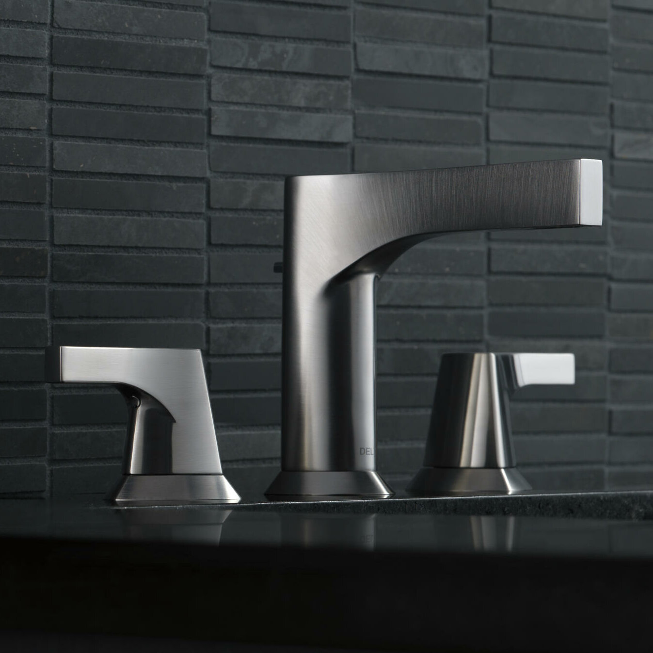 Delta Zura Widespread Bathroom Faucet with Drain Assembly & Reviews ...