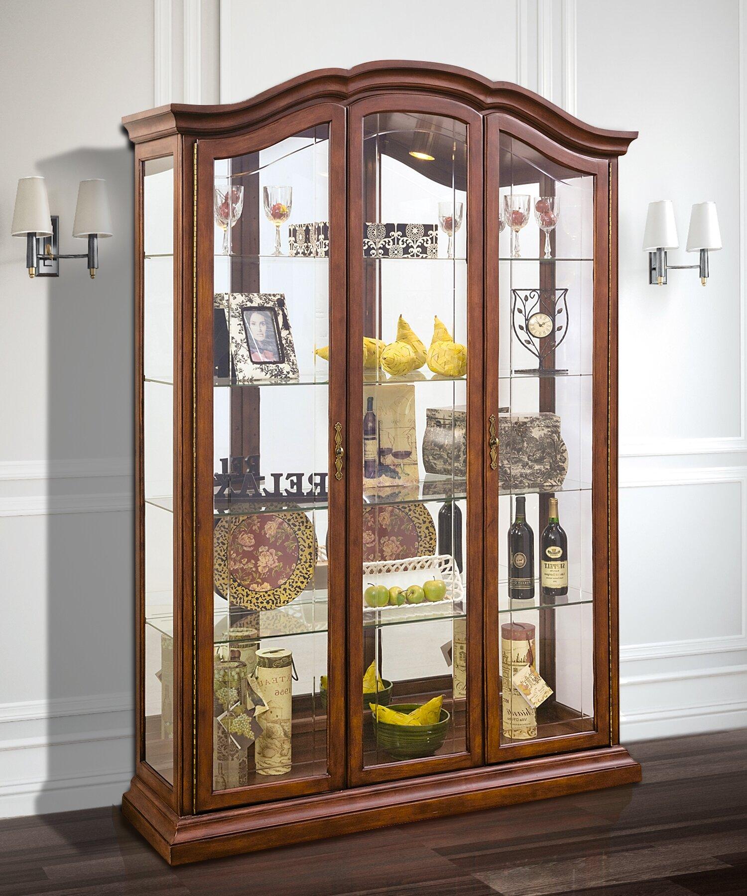 Astoria Grand Elrosa Lighted Curio Cabinet Reviews Wayfair