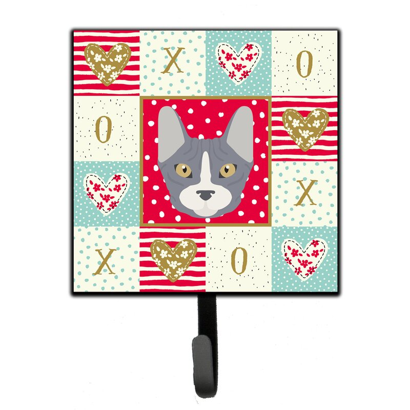 The Holiday Aisle Bittle British Shorthair Cat Love Wall Key Organizer With Key Hooks Wayfair
