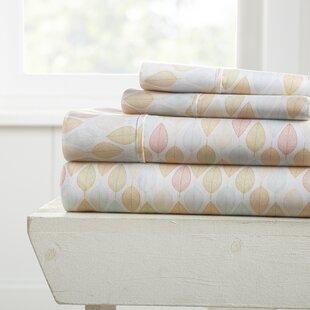 Red Barrel Studio Householder Premium Ultra Soft Fall Foliage 4 Piece Bed Sheet Set