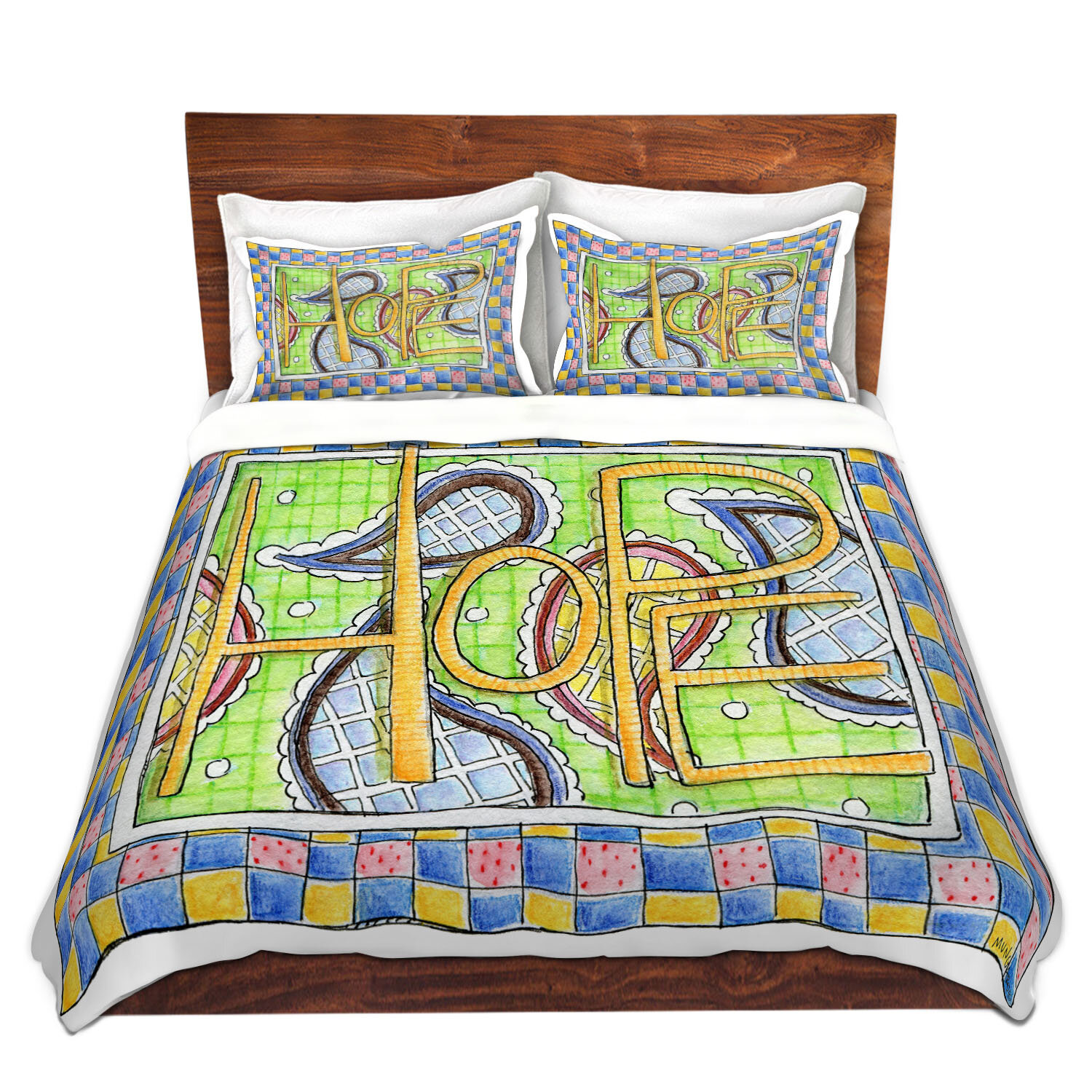 East Urban Home Hope Duvet Cover Set Wayfair