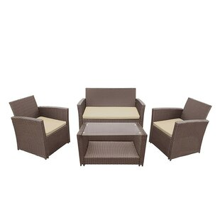 Easton 4 Piece Sofa Set with Cushions
