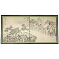 18 x 36 Mountain of Knowledge 4 Panel Room Divider by Oriental Furniture