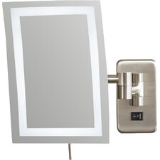 alonso direct wire wall mount rectangular makeup mirror