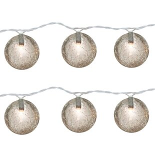 The Holiday Aisle Cracked 10 Light Globe String Lights