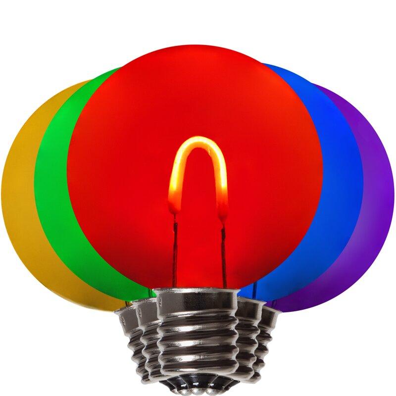 Wintergreen Lighting 1 Watt 25 Watt Equivalent G50 Led Non Dimmable Light Bulb E17 Intermediate Base Wayfair