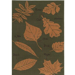 Cascade Range Rifle Green/Cashew Area Rug