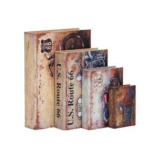 4 Piece Decorative Book Set